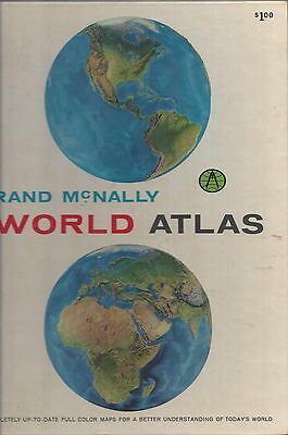Rand mcnally collegiate world atlas hardcover 1962 3000 rand mcnally world atlas maps index 1965 hardcover oversize 8 x 10 inches gumiabroncs Image collections