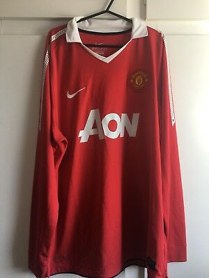 *XL* 2010-11 Man Utd Home L/S Football Shirt (k)