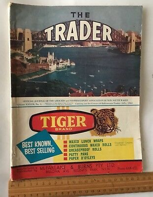 THE TRADER an AUSTRALIAN SYDNEY 1964 GROCERY MONTHLY CATALOGUE