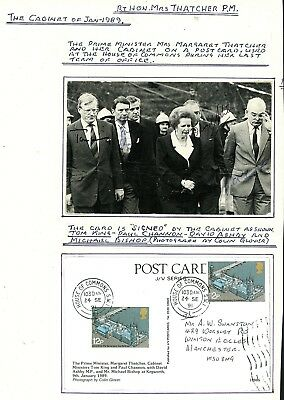 1991  Postcard Signed by the Cabinet, Posted House of Commons     (Au754)