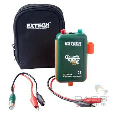*NEW* Genuine Extech CT20 Remote & Local Continuity Tester w/ Leads,Clips & Case