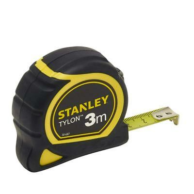 Stanley Tylon Tape Measure with Anchor, Black/Yellow, 3 m/12.7 mm