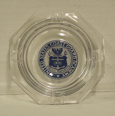 U.s. Coast Guard Academy Glass Ashtray - Unused