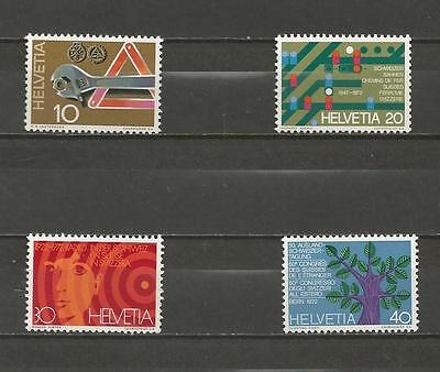 SWITZERLAND - 1972 Years Events   - MINT UNHINGED COMPLETE