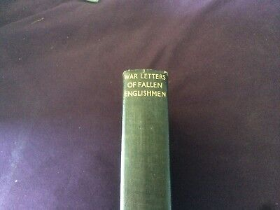 nice old 1930 dated book war letters of fallen englishmen soldiers killed in WW1