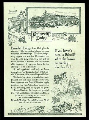 1911 Briarcliff Lodge Manor New York illustrated vintage print ad