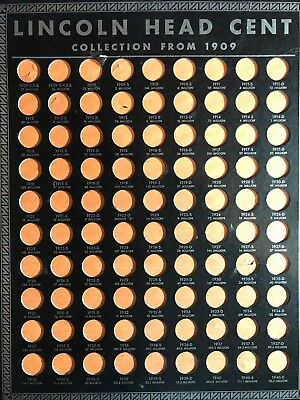 EMPTY Whitman Starting 1909 Lincoln Head Cent Collection Board ES419