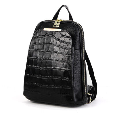 Fashion 2018 Natural 100% Real Genuine Cow Leather Women Backpack Cowhide Bags