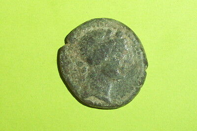 BLAUNDUS LYDIA Authentic Ancient GREEK COIN thyrsus tool Dionysus sceptre RARE G