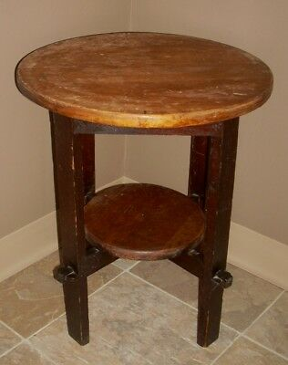 Arts and Crafts Stickley Style Mission Small Round Table