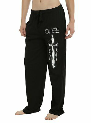 Mens Womens NEW Once Upon A Time Black Pajama Lounge Pants Size XS-2XL