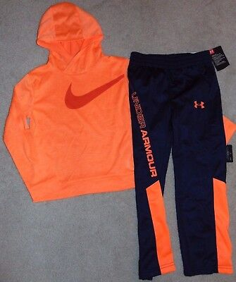 ~NWT Boys UNDER ARMOUR & NIKE Neon Outfit! Size 5 Cute:)!!