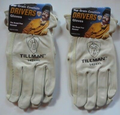 Lot of 2 Pairs Tillman 1424 XL Top Grain Cowhide Drivers Gloves - New!