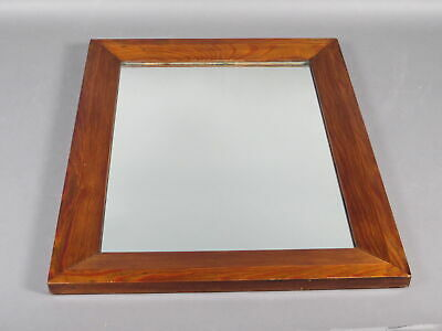 Vintage Solid Cherry Wood Beveled Frame w/Glass Mirror Arts & Crafts Mission