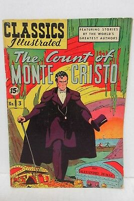 Claasics Illustrated Comic Book No. 3 The Count Of Monte Cristo by Dumas