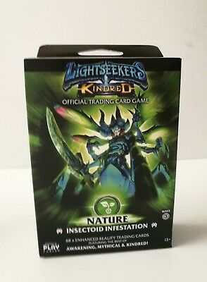 Lightseekers Card Game Nature Theme Deck - Insectoid Infestation NEW