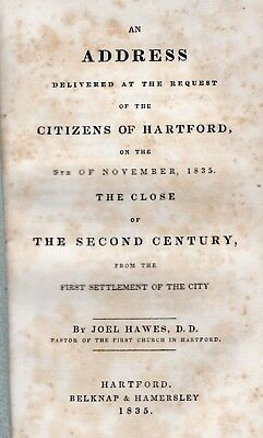 1835 Hartford, Connecticut from Settlement to Close of Second Century