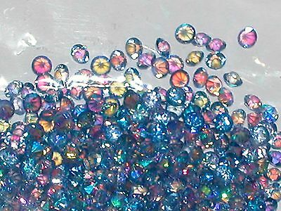 30pc Floating tiny little Crystals rhinestone gems for bottle 3mm AB Purple NEW*