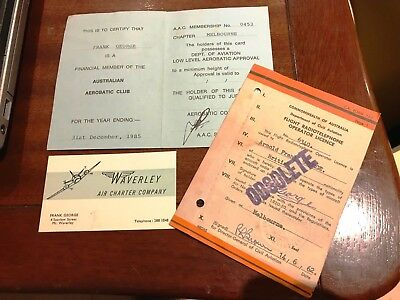 Royal Victorian Aero Club-Member's Card-Flight Radiotelephone Operator Licence +