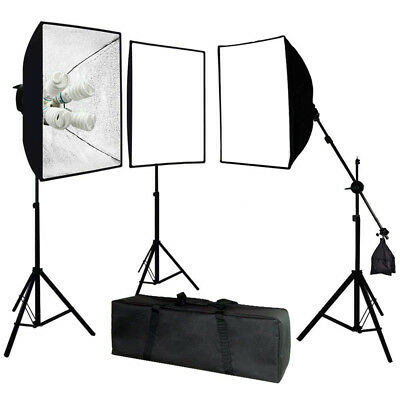 Julius Studio Photography Video 2400 Watt Square Softbox Continuous Lighting Kit
