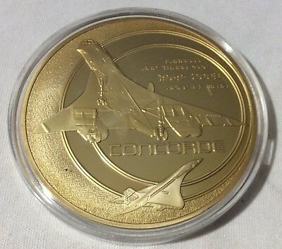 1963 - 2003 Large Proof Medal Final Fight of the Concorde Airplane
