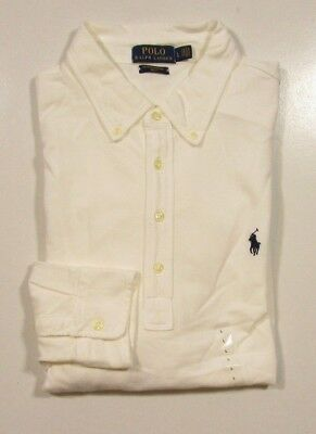 Polo Ralph Lauren Men's L/S Weathered White Featherweight Mesh Polo Shirt