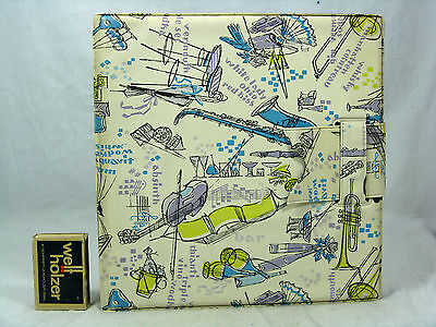 Beautiful 50´s vintage design  7inch record wallet / Schallplatten Mappe 08926