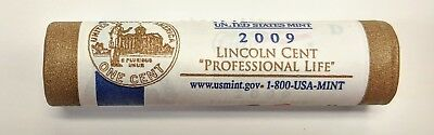 {BJSTAMPS} 2009-D Lincoln Cent Professional Life US Mint Roll LP3