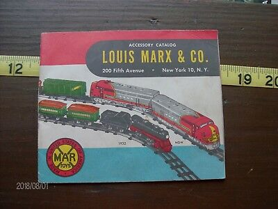 Louis Marx Co Vintage Model Train Accessory Catalog Illus 24 Pages 1950's