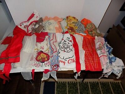 Lot of 17 Vintage Kitchen Aprons