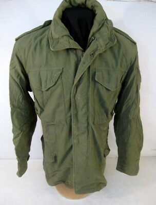 post-Vietnam US Army M65 OG-107 Combat Field Coat Jacket - Size Sm/Reg - 1977