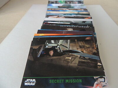 Star Wars Green Parallel Set 1-100 Force Awakens Topps