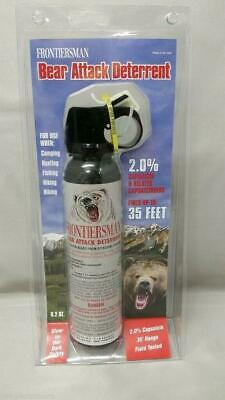 NEW Sabre Frontiersman Bear Spray 9.2oz (No Holster) Maximum Strength 35' Range