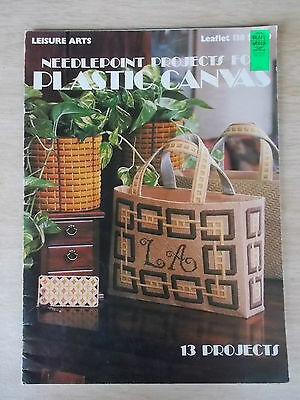 Needlepoint Projects for Plastic Canvas~LA 138~13 Projects~1978~25pp