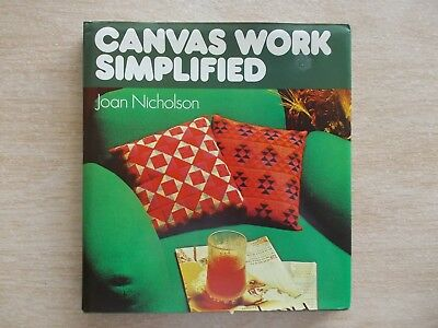 Canvas Work Simplified~Joan Nicholson~Half Cross Stitch Patterns~HBWC