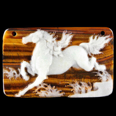 Carved Horse Bead CD EJ600078