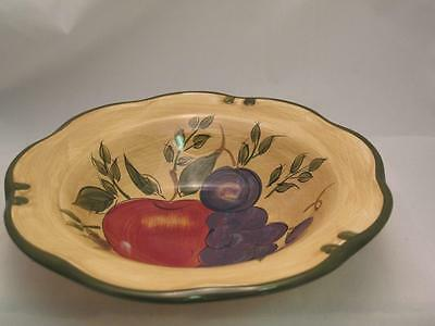 Home Trends Granada Soup Cereal Bowl Fruit Grapes Apple Plums