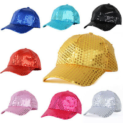Glitter Sequins Baseball Caps Snapback Hats Party Outdoor Adjustable Hot Cool