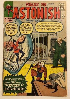 Rare 1963 Ant Man The Wasp Tales To Astonish #45 Silver-Age Comic Lee Kirby