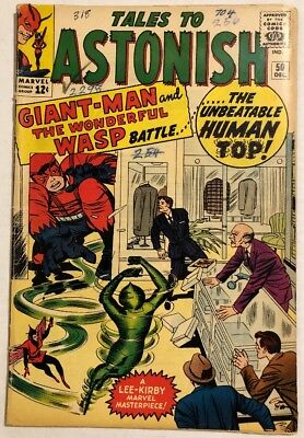 Ant Man The Wasp Tales To Astonish #50 Origin 1St Human Top Marvel Silver Age