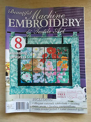 Machine Embroidery & Textile Art Vol 19 #10~Quilts~Sewing Compendium~Bedding...