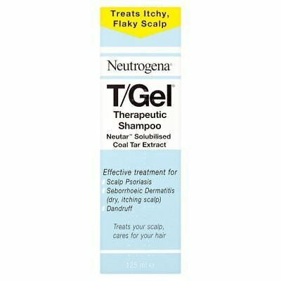 Neutrogena T/Gel Therapeutic Shampoo Treatment for Scalp Psoriasis, Itching 125m