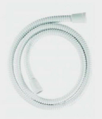 PVC Shower Hose 1.5m White Large Bore Reinforced For Power Showers Croydex