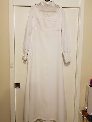 Vintage 70's Wedding Gown Size 12