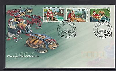 CHRISTMAS ISLAND  1997 CHRISTMAS set on FDC - Santa Claus & Wildlife .