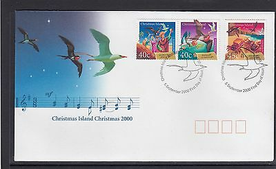 CHRISTMAS ISLAND 2000 CHRISTMAS set on FDC - BIRDS Wildlife.