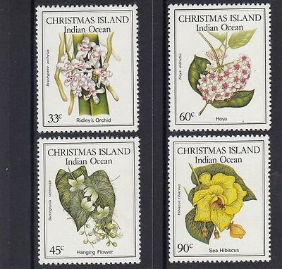 CHRISTMAS Island 1986 NATIVE FLOWERS .. FLORA set of 4  MNH.