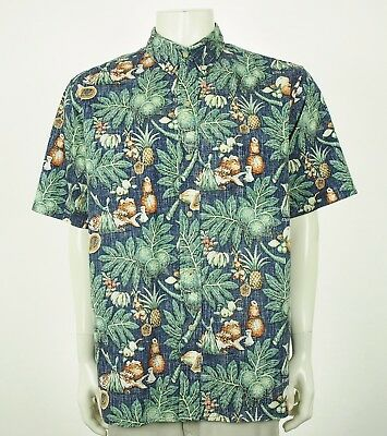 9acba40c VTG REYN SPOONER XL X-LARGE Mens Hawaiian RAYON Shirt Muscle Car Hot ...