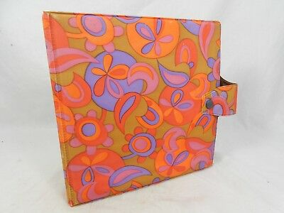 Beautiful 70´s design 7 inch Single record wallet / Schallplatten Mappe 11960