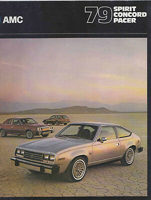 1979 AMC Spirit, Concord, Pacer Sales Brochure. Near Mint.